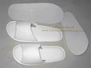 รับผลิตรองเท้า รองเท้าslipper รองเท้าแตะ รองเท้าสปา รองเท้าผ้าวอฟเฟอร์ พื้นpvc สีขาว